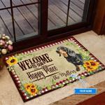 Dachshund Happy Place Funny Outdoor Indoor Wellcome Doormat