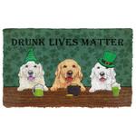 3D Golden Retriever Drunk Lives Matter Doormat