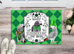 Happy Stain Patricks day The Irish Indoor and Outdoor Doormat Warm House Gift Welcome Mat Gift for Labrador Lovers Birthday Gift