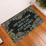 A Lot Of Plants In Here Succulent Funny Outdoor Indoor Wellcome Doormat