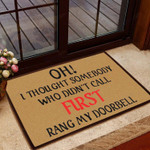 Funny Doormat Who Didnt Call First