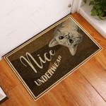 Cat Nice Underwear Doormat  Welcome Mat