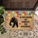 Bear Lovers  Door Mat We Embrace The Difference