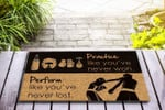 Boxing - Practice like youve never won Funny Outdoor Indoor Wellcome Doormat