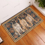 Bullmastiff Flower Paw - Dog Doormat  Welcome Mat