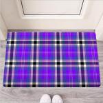Black Purple Plaid Tartan Funny Outdoor Indoor Wellcome Funny Outdoor Indoor Wellcome Doormat