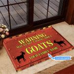 Goat Warning Start Talking Funny Outdoor Indoor Wellcome Doormat