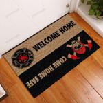 Home Firefighter Doormat  Welcome Mat