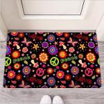 Hippie Peace Print Funny Outdoor Indoor Wellcome Funny Outdoor Indoor Wellcome Doormat