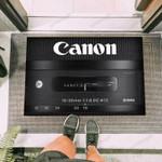 Camera Canon 18-35mm Lens Funny Outdoor Indoor Wellcome Doormat
