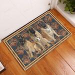English Mastiff Flower Paw - Dog Doormat  Welcome Mat