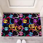 Abstract Lip Graffiti Print Funny Outdoor Indoor Wellcome Funny Outdoor Indoor Wellcome Doormat