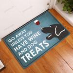 Go Away Unless You Have WineBlack Dog Treats All Over Printing Funny Outdoor Indoor Wellcome Doormat