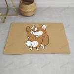 Corgi Hugs Funny Outdoor Indoor Wellcome Doormat