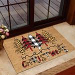 Lovers  Door Mat Pine Tree Pattern - Merry Christmas Coir Pattern