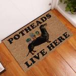 Door Mat Potheads Live Here Garden Dachshund