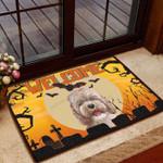 Cockapoo Halloween Welcome - Dog Doormat  Welcome Mat  House Warming Gift