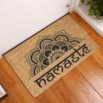 Yoga Lovers  Door Mat Namaste Coir Pattern