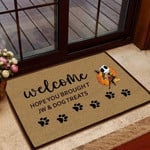 Hope You Brought JW and Dog Treats Doormat  Welcome Mat