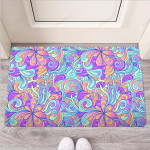 Holographic Floral Psychedelic Funny Outdoor Indoor Wellcome Funny Outdoor Indoor Wellcome Doormat