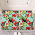 Hawaiian Bird Floral Print Funny Outdoor Indoor Wellcome Funny Outdoor Indoor Wellcome Doormat