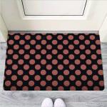 Black Brown Polka Dot Funny Outdoor Indoor Wellcome Funny Outdoor Indoor Wellcome Doormat