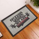 Door Mat We Are Probably Sweaty Gym