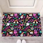 Hippie Retro Funny Outdoor Indoor Wellcome Funny Outdoor Indoor Wellcome Doormat