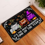 Halloween-Its The Most Wonderful Time Of The Year Doormat  Welcome Mat  House Warming Gift