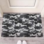 Grey Camouflage Print Funny Outdoor Indoor Wellcome Funny Outdoor Indoor Wellcome Doormat