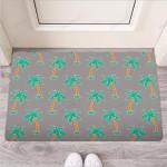Cartoon Palm Tree Hawaiian Print Funny Outdoor Indoor Wellcome Funny Outdoor Indoor Wellcome Doormat