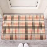 Beige Plaid Tartan Funny Outdoor Indoor Wellcome Funny Outdoor Indoor Wellcome Doormat