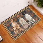 Brittany Flower Paw - Dog Doormat  Welcome Mat