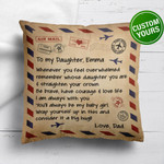Lovers  Door Mat To My Daughter Whenever You Feel Overwhelmed