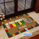 Elephant Autism We Do Autism Funny Outdoor Indoor Wellcome Doormat