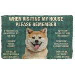 3D Please Remember Akita Dogs House Rules Custom Doormat