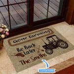 Gone Farming Funny Outdoor Indoor Wellcome Doormat