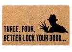 Halloween Doormat - Better Lock Your Door  Welcome Mat  House Warming Gift