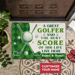A Great Golfer And The Best Score All Over Printing Funny Outdoor Indoor Wellcome Doormat
