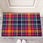 Colorful Plaid Tartan Funny Outdoor Indoor Wellcome Funny Outdoor Indoor Wellcome Doormat