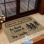 Gone Cycling Funny Outdoor Indoor Wellcome Doormat