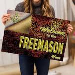 Freemasonry Funny Outdoor Indoor Wellcome Doormat