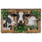 3D Cow Shamrock St Patrick Day Custom Doormat