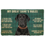 Gearhuman 3D My Great Danes Rules Doormat