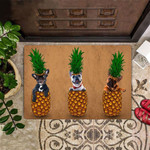 Frenchies Pineapple Doormat For Front Door Cute Door Mat House Gift For French Bulldog Lover