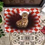 Bengal Christmas - Cat Doormat  Welcome Mat  House Warming Gift