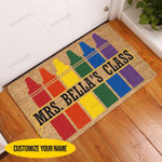 Colorful Class Personalized Coir Pattern All Over Printing Funny Outdoor Indoor Wellcome Doormat