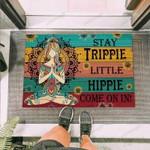 Hippie Stay Trippie A Little Hippie Funny Outdoor Indoor Wellcome Doormat