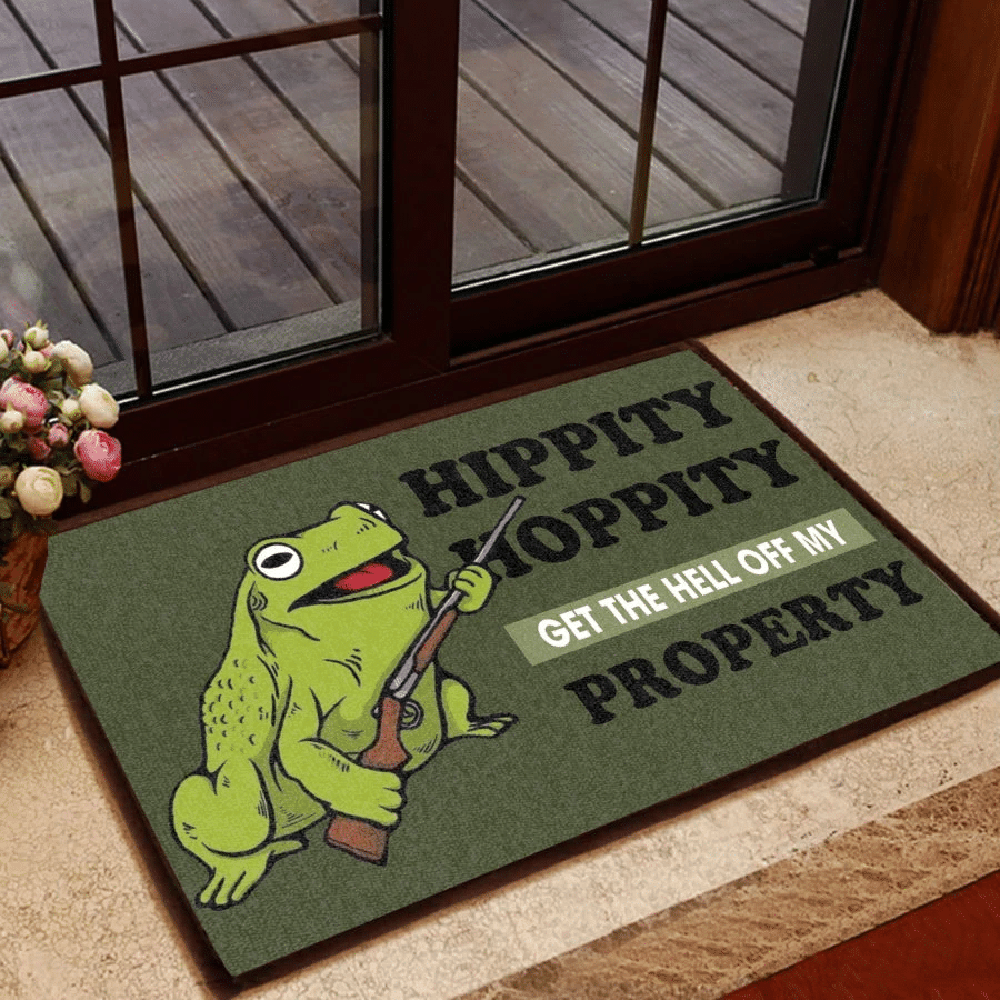 Funny Door Mat Hippity Hoppity Get The Hell Off My Property