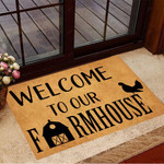 Farmhouse Funny Outdoor Indoor Wellcome Doormat Welcome To Farmhouse Funny Outdoor Indoor